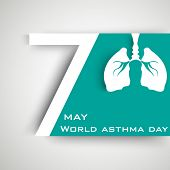 foto of asthma  - World asthma day background with lungs - JPG