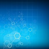 stock photo of biomedical  - Abstract molecules medical background - JPG