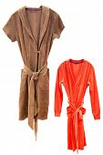 pic of housecoat  - bathrobes under the white background - JPG