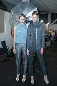 ZAGREB, CROATIA - MARCH 15: Fashion models in backstage for Couture show by Marina Design on 'Fashio