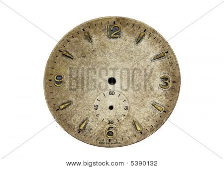 Antique Watch Face With Clipping Path