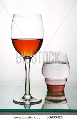 Two Glasses With Drinks.
