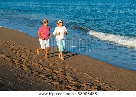 Senior Women Having Early Morning Jog.