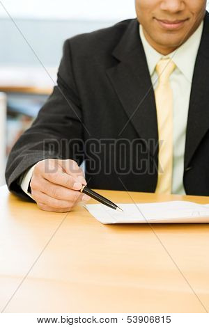 Cropped image of businessman