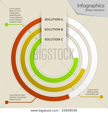 Vector business infographics template design
