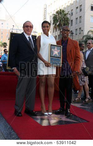 LOS ANGELES - NOV 13:  Clive Davis, Jennifer Hudson, Raphael Saadiq at the Jennifer Hudson Hollywood Walk of Fame Star Ceremony at W Hollywood Hotel on November 13, 2013 in Los Angeles, CA