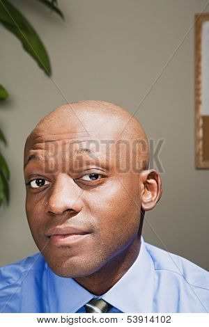 Businessman looking confident