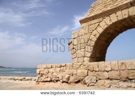 Acueducto. Caesarea. Israel