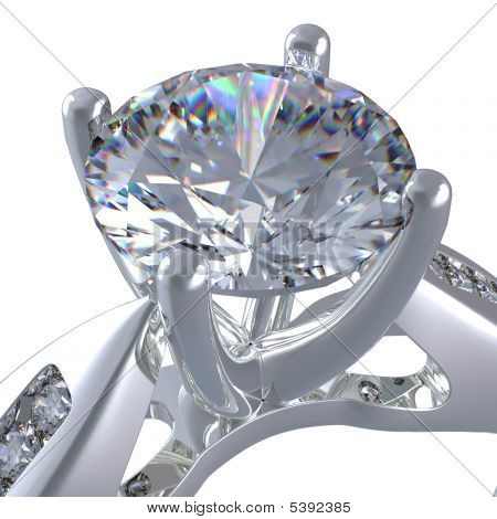 3D Rendering Of A Diamond Ring