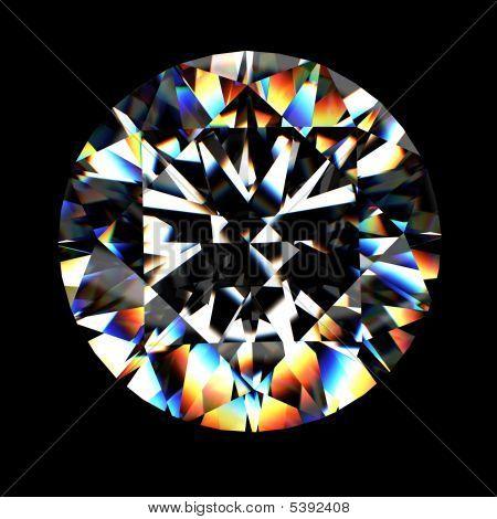3D Rendering eines Diamant-Ring