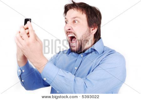 Yelling Man On Phone