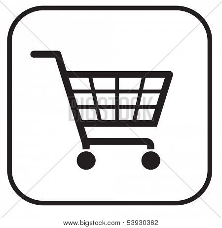 simple shopping basket sign eps 10