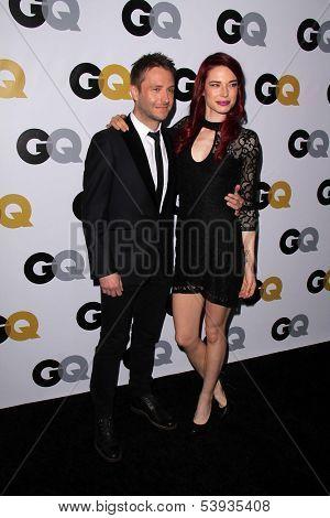 LOS ANGELES - NOV 12:  Chris Hardwick, Chloe Dykstra at the GQ 2013