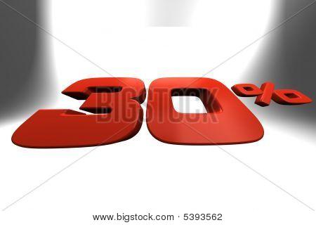 Thirty Percent 3D Banner