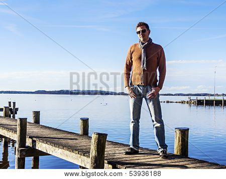 Man On Landing Stage