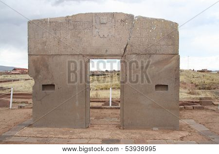 The Gate of the Sun, Tiwanaku, Bolivia