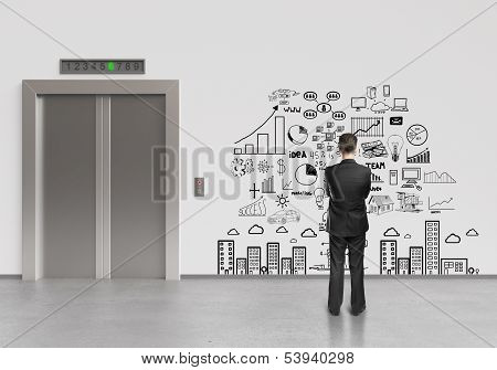 Man Looking At Business Plan