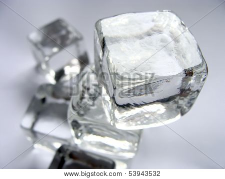 Glass Cubes Stack Background