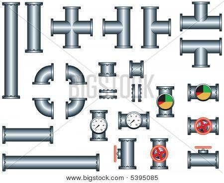 Plumbing Pipe Construction Set
