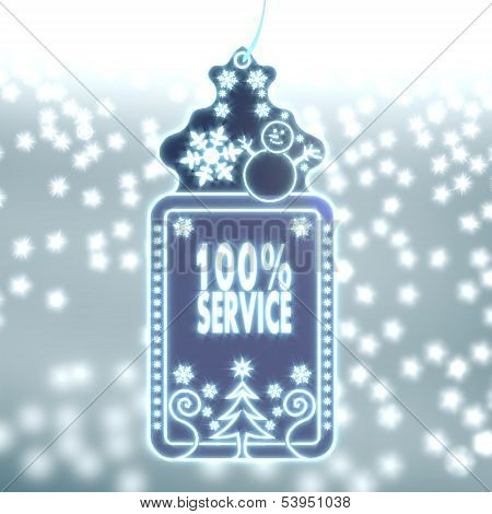 Magic Christmas Label With Service Sign