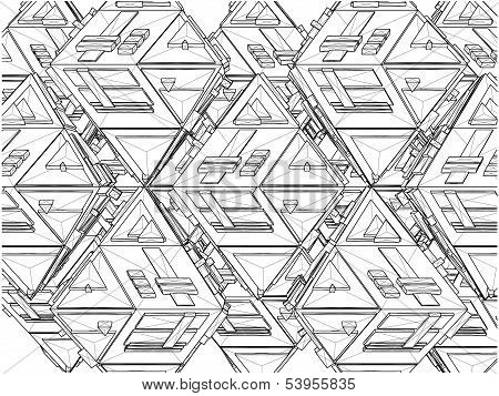 Tetrahedron Constructions Structure Vector
