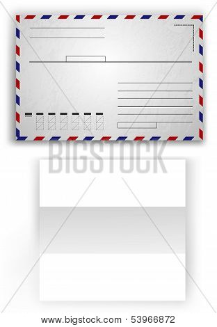blank white paper and envelope