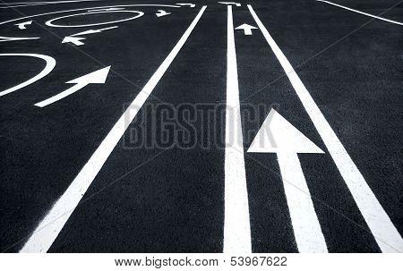 Road markings signs