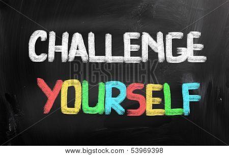 Challenge Yourself Concept