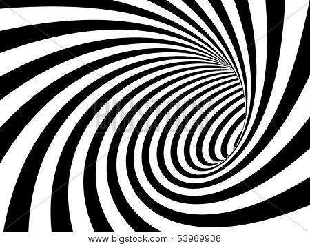3d image of black and white tunnel