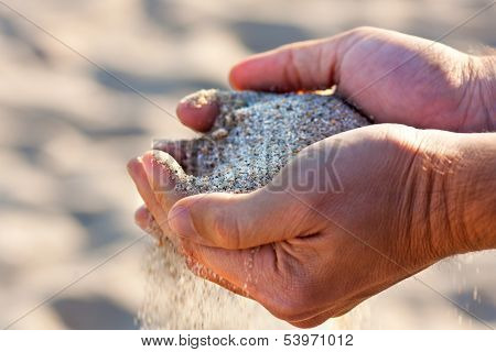 Hands With Sand
