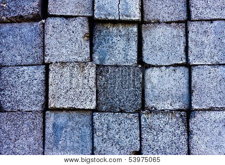 Texture Of Square Granite Blocks