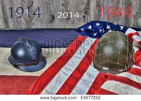 Two Helmets Of Two Wars