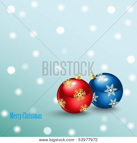 Merry Christmas Background with balls
