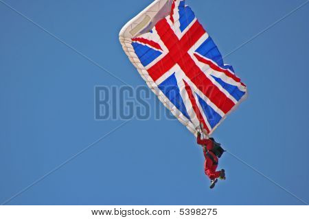 Red Devil With Union Jack Parachute