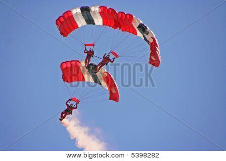 Red Devils Parachute Stunt