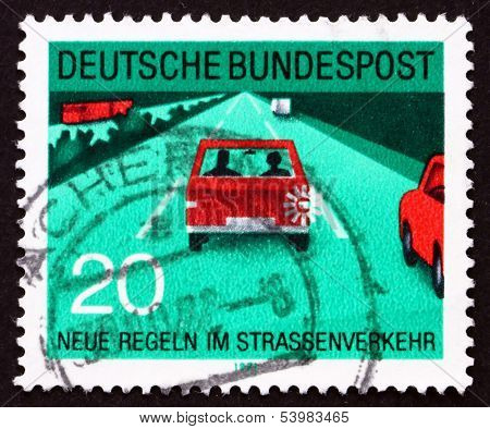 Postage Stamp Germany 1971 Drive At Right