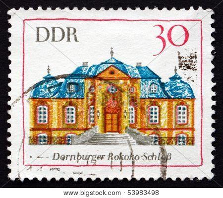 Postage Stamp Gdr 1969 Rococo Palace, Dornburg