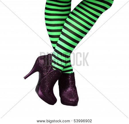 Green Witch Stockings