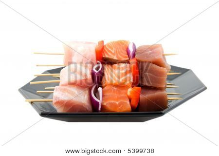 Fish Spear On White Background