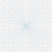 Real size vector perspective grids millimeter engineering paper