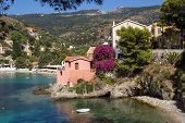 Traditional Fishing Village Of Assos At Kefalonia, Greece