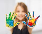 image of finger-painting  - education - JPG