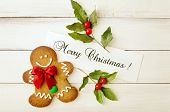 picture of ginger-bread  - christmas card with a ginger - JPG
