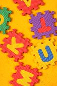 picture of kiddie  - Kiddies style Colored Alphabet and number blocks - JPG