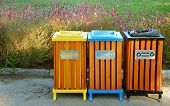picture of reprocess  - Garbage bins for different types of objects - JPG