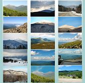 Scenic Mountain Collage