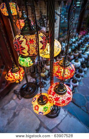 Arab Street Lanterns In The City Of Dubai