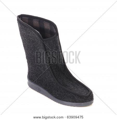 Winter man's boot.