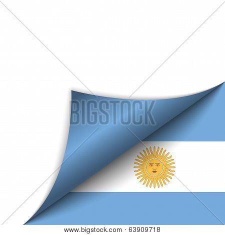 Argentina Country Flag Turning Page