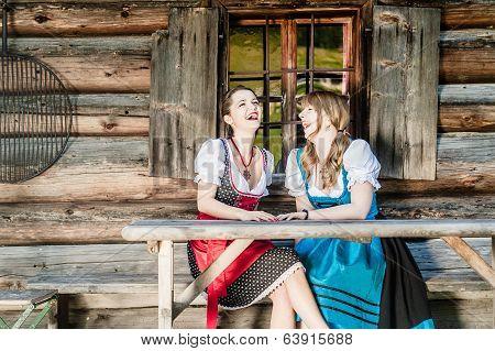 Cheerful Women In Dirndl